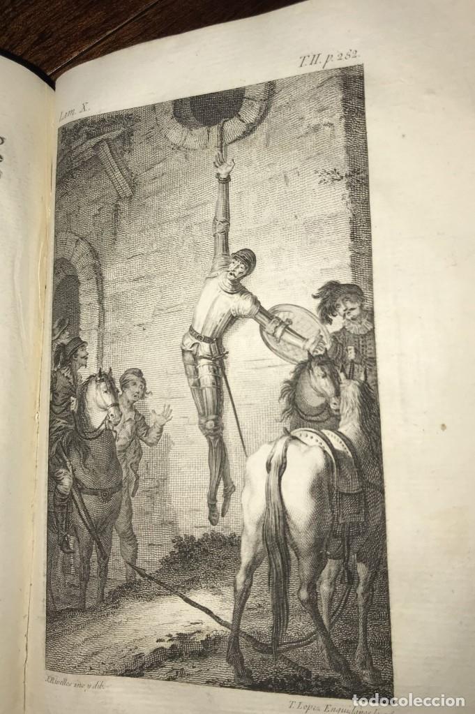 Libros antiguos: 1819 DON QUIJOTE DE LA MANCHA. REAL ACADEMIA ESPAÑOLA. IMPRENTA REAL. GRABADOS DE RIVELLES. 3 TOMOS - Foto 4 - 176510073