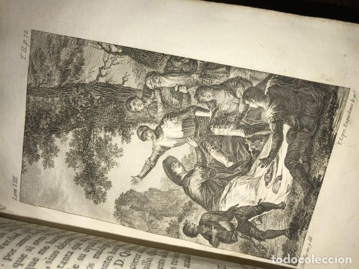 Libros antiguos: 1819 DON QUIJOTE DE LA MANCHA. REAL ACADEMIA ESPAÑOLA. IMPRENTA REAL. GRABADOS DE RIVELLES. 3 TOMOS - Foto 5 - 176510073