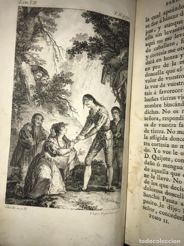 Libros antiguos: 1819 DON QUIJOTE DE LA MANCHA. REAL ACADEMIA ESPAÑOLA. IMPRENTA REAL. GRABADOS DE RIVELLES. 3 TOMOS - Foto 6 - 176510073