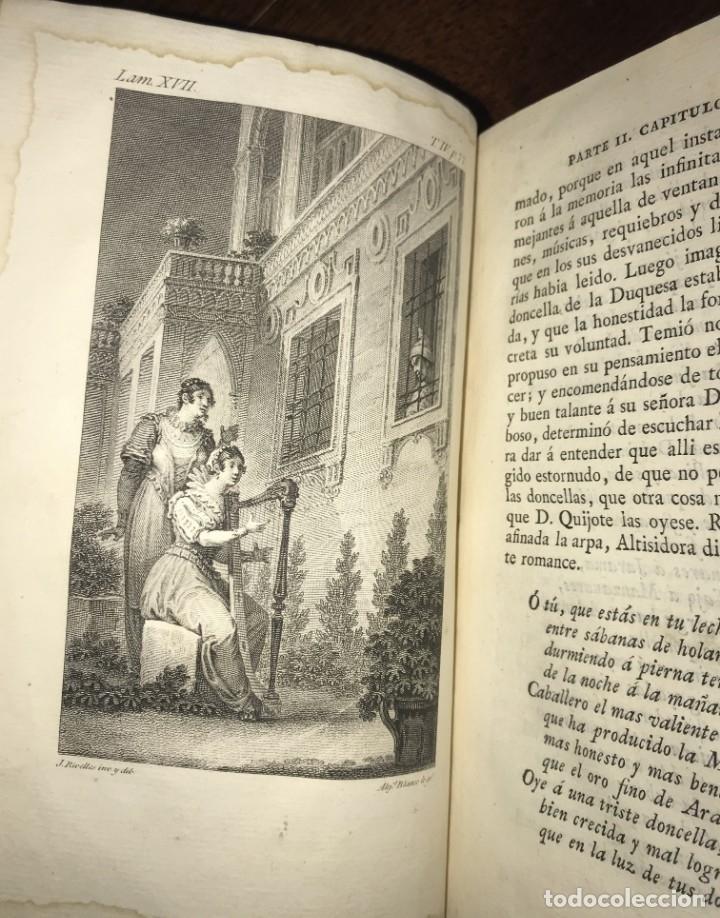 Libros antiguos: 1819 DON QUIJOTE DE LA MANCHA. REAL ACADEMIA ESPAÑOLA. IMPRENTA REAL. GRABADOS DE RIVELLES. 3 TOMOS - Foto 8 - 176510073
