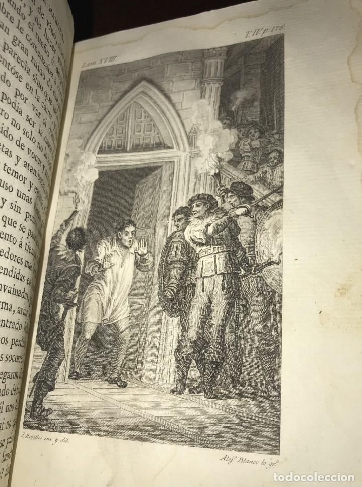 Libros antiguos: 1819 DON QUIJOTE DE LA MANCHA. REAL ACADEMIA ESPAÑOLA. IMPRENTA REAL. GRABADOS DE RIVELLES. 3 TOMOS - Foto 9 - 176510073