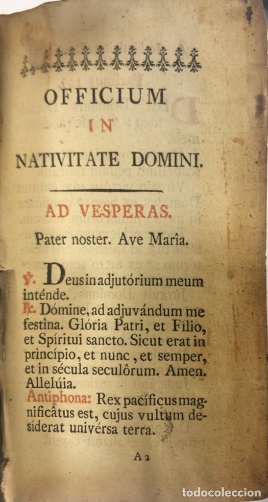 Libros antiguos: OFFICIUM IN FESTO NATIVITATES DOMINI. MATRITI. AÑO 1805. PAGS: 602 - Foto 3 - 176549108