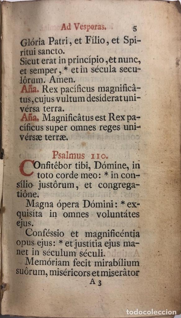 Libros antiguos: OFFICIUM IN FESTO NATIVITATES DOMINI. MATRITI. AÑO 1805. PAGS: 602 - Foto 4 - 176549108