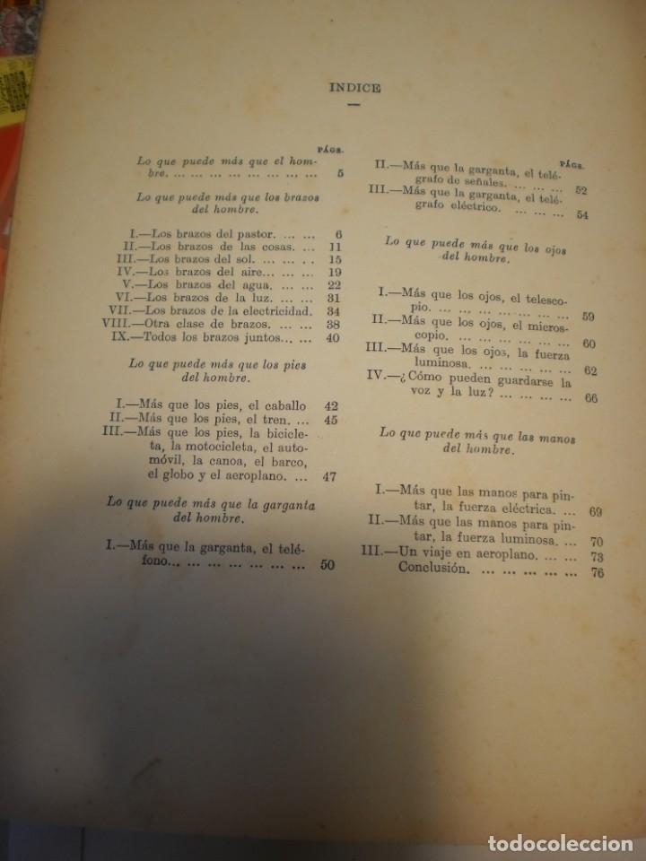 Libros antiguos: lo que puede más que el hombre. editorial sopena 1924 tapa dura 78 pág (buen estado) - Foto 5 - 176552075