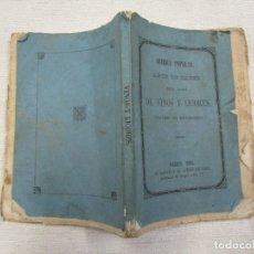 Libros antiguos: ARTE DE HACER TODA CLASE DE LICORES....Y CERVEZA - MADRID 1861 -5ª EDICION + INFO Y FOTOS.. Lote 176577635