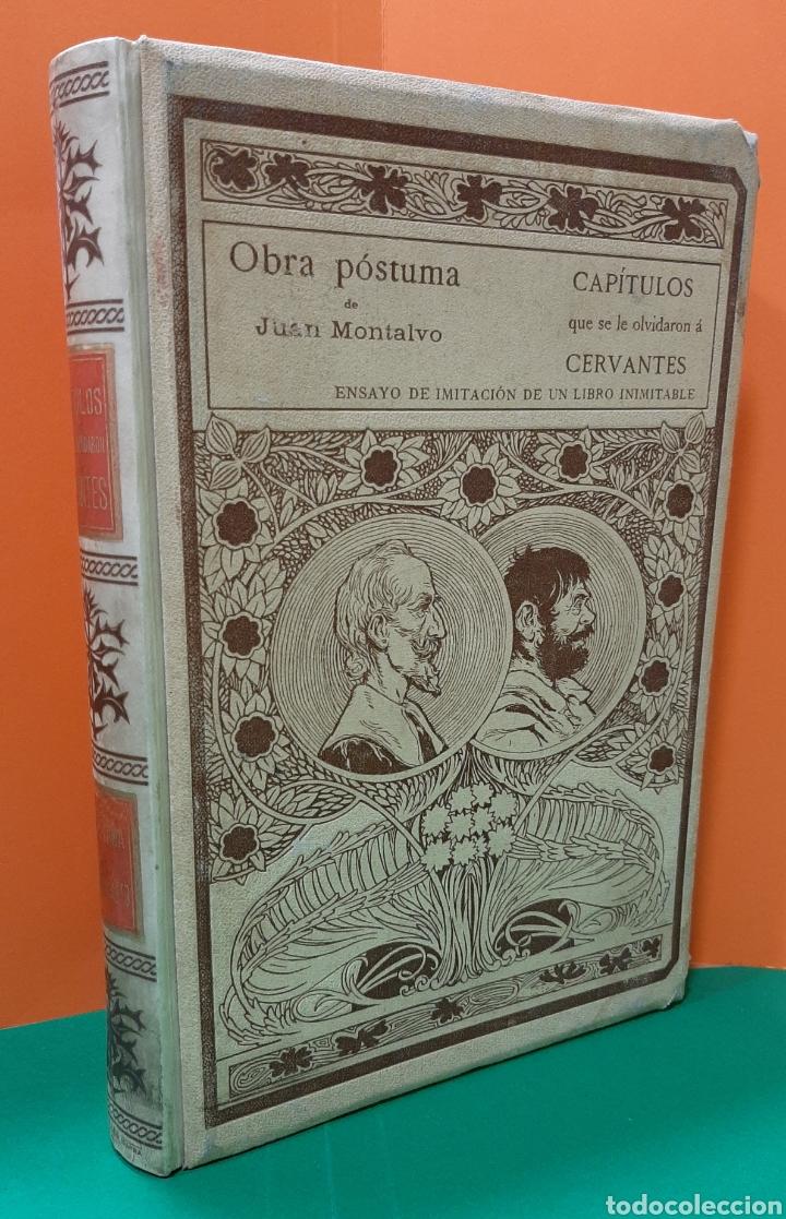 CAPITULOS QUE SE LE OLVIDARON A CERVANTES, MONTANER Y SIMON. AÑO 1898. (Libros Antiguos, Raros y Curiosos - Literatura - Otros)