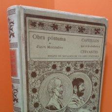 Libros antiguos: CAPITULOS QUE SE LE OLVIDARON A CERVANTES, MONTANER Y SIMON. AÑO 1898.. Lote 176588982