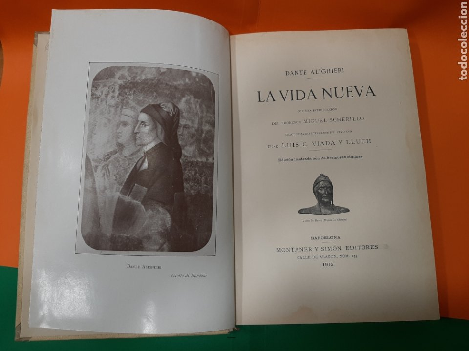 Libros antiguos: LA VIDA NUEVA, DANTE ALIGHIERI, MONTANER Y SIMÓN. AÑO 1912. - Foto 2 - 176590074
