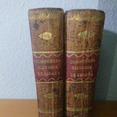 Libros antiguos: COMPENDIO DE LA HISTORIA DE ESPAÑA, TOMO I Y II, 1806, COMPLETA. Lote 176599310