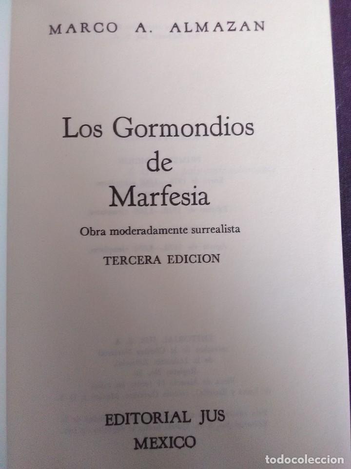Libros antiguos: Marco Aurelio Almanzan - Los gormondios de Marfesia - Foto 2 - 176631549
