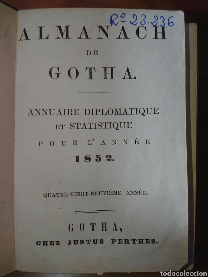 Libros antiguos: Almanach de Gotha, 1852 - Foto 4 - 176701714