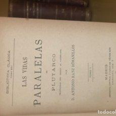 Libros antiguos: LAS VIDAS PARALELAS. Lote 176765867