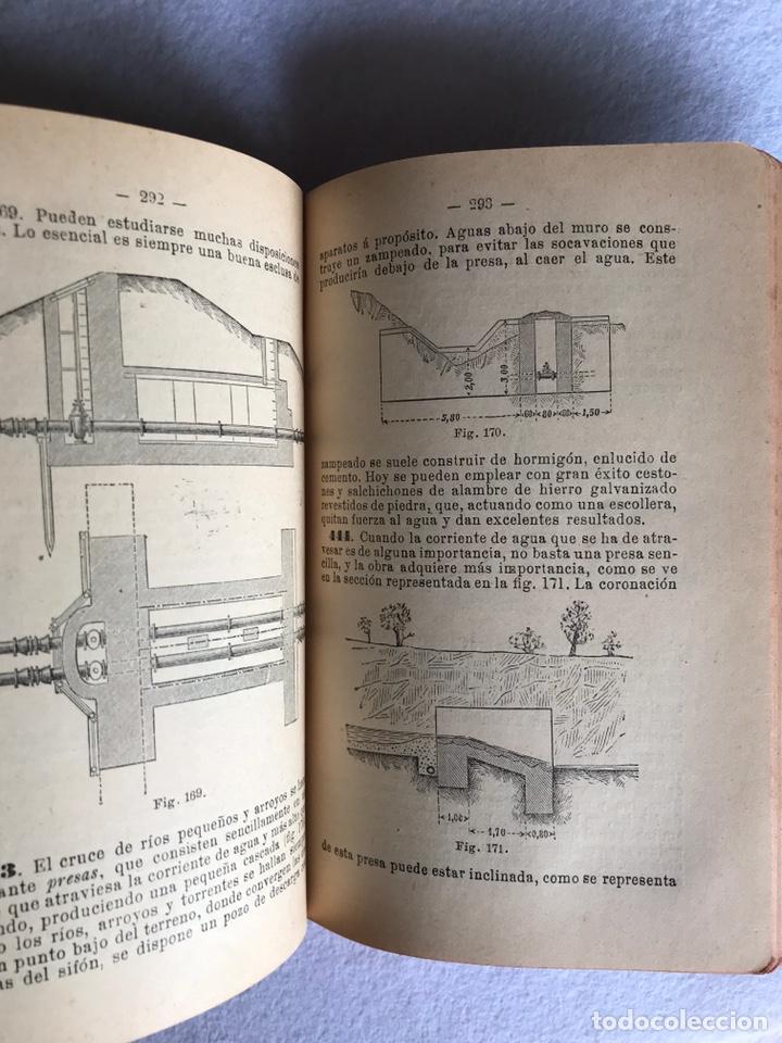 Libros antiguos: MANUAL DE HIDRÁULICA APLICADA. T.PERDONI. MANUALES ROMO. 1904 - Foto 3 - 176766988
