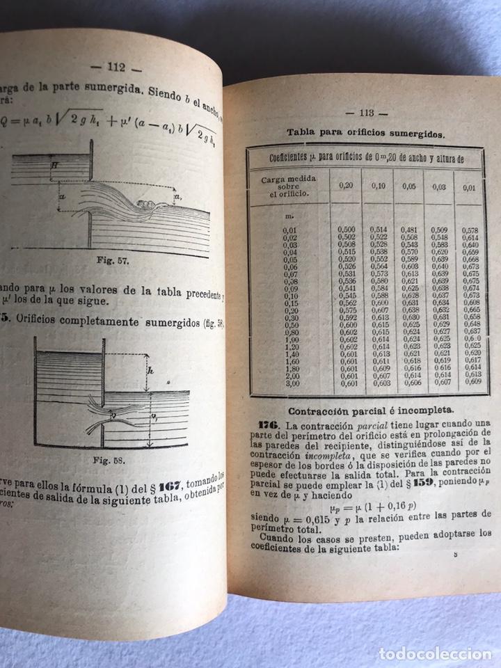 Libros antiguos: MANUAL DE HIDRÁULICA APLICADA. T.PERDONI. MANUALES ROMO. 1904 - Foto 4 - 176766988