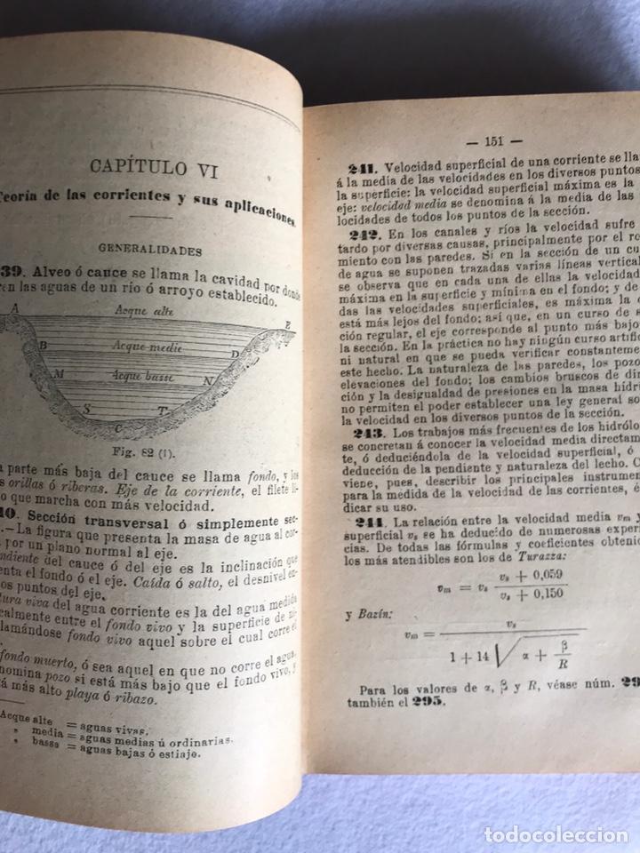 Libros antiguos: MANUAL DE HIDRÁULICA APLICADA. T.PERDONI. MANUALES ROMO. 1904 - Foto 5 - 176766988