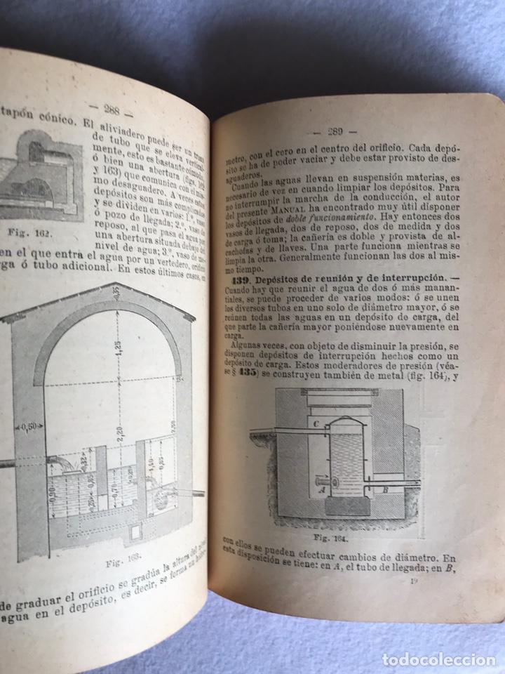 Libros antiguos: MANUAL DE HIDRÁULICA APLICADA. T.PERDONI. MANUALES ROMO. 1904 - Foto 6 - 176766988