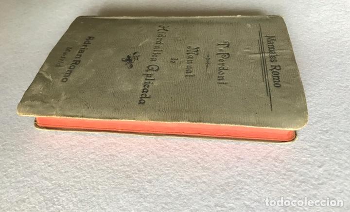 Libros antiguos: MANUAL DE HIDRÁULICA APLICADA. T.PERDONI. MANUALES ROMO. 1904 - Foto 8 - 176766988