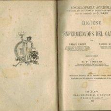 Libros antiguos: ENFERMEDADES DEL GANADO: POR PABLO CAGNI & RAOUL GOUIN. Lote 176852402