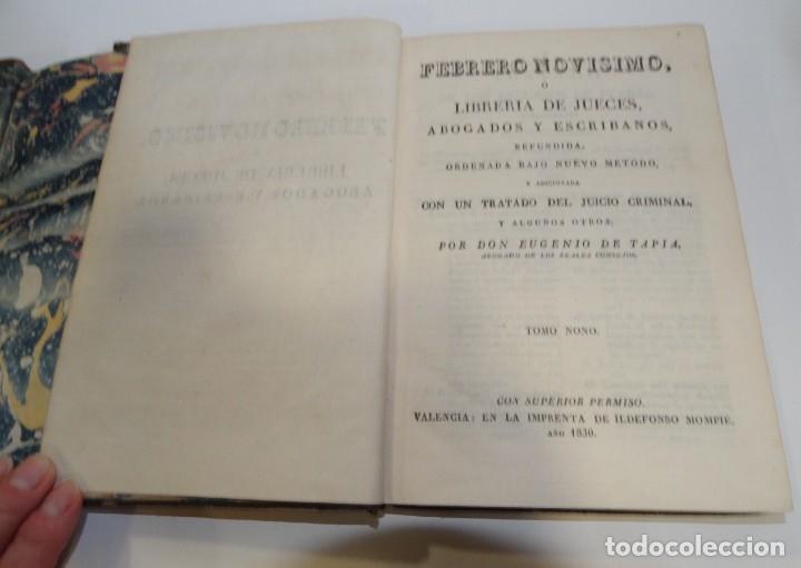 Libros antiguos: FEBRERO NOVÍSIMO Ó LIBRERÍA DE JUECES ABOGADOS Y ESCRIBANOS.1828. 1ª EDICCIÓN. 1828. EUG. DE TAPIA - Foto 21 - 176859554