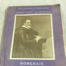 Libros antiguos: HOMENAJE A MARTÍNEZ MONTAÑÉS (1568-1649). 1939. Lote 176866525