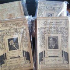 Libros antiguos: LOTE DE 76 EJEMPLARES LECTURA POPULAR BIBLIOTECA D'AUTORS CATALANS. Lote 176922634