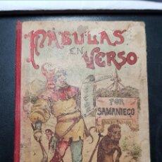 Libros antiguos: FÁBULAS EN VERSO CASTELLANO FÉLIX MARÍA SAMANIEGO. MADRID SATURNINO CALLEJA. Lote 176932042