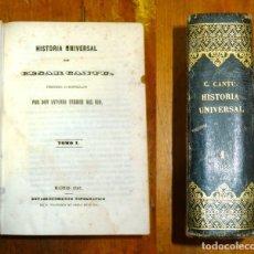 Libros antiguos: CANTÚ, CÉSAR. HISTORIA UNIVERSAL. VOLUMEN 1 : TOMO I ; TOMO II. - 1847. Lote 176968932
