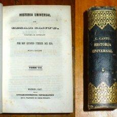 Libros antiguos: CANTÚ, CÉSAR. HISTORIA UNIVERSAL. VOLUMEN 4 : TOMO VII ; TOMO VIII. - 1847. Lote 176969142