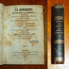 Libros antiguos: BRACONNIER, EDUARDO. LA GEOGRAFÍA APLICADA Á LA HISTORIA Ó ESTUDIO ELEMENTAL DE GEOGRAFIA É HISTORIA. Lote 176969390
