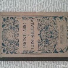 Libros antiguos: PRONTUARIO DE CONTABILIDAD. PRONTUARIO DE TENEDURIA DE LIBROS Y EFECTOS DE COMERCIO. G.M. BRUÑO.. Lote 177017010