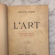 Libros antiguos: L`ART-AUGUSTE RODIN(33€). Lote 177017487
