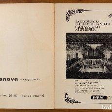 Libros antiguos: LA RESTAURACIO DEL PALAU DE LA MUSICA CATALANA LA DUU A TERME PIPSA INTERIOR(49€). Lote 177017532