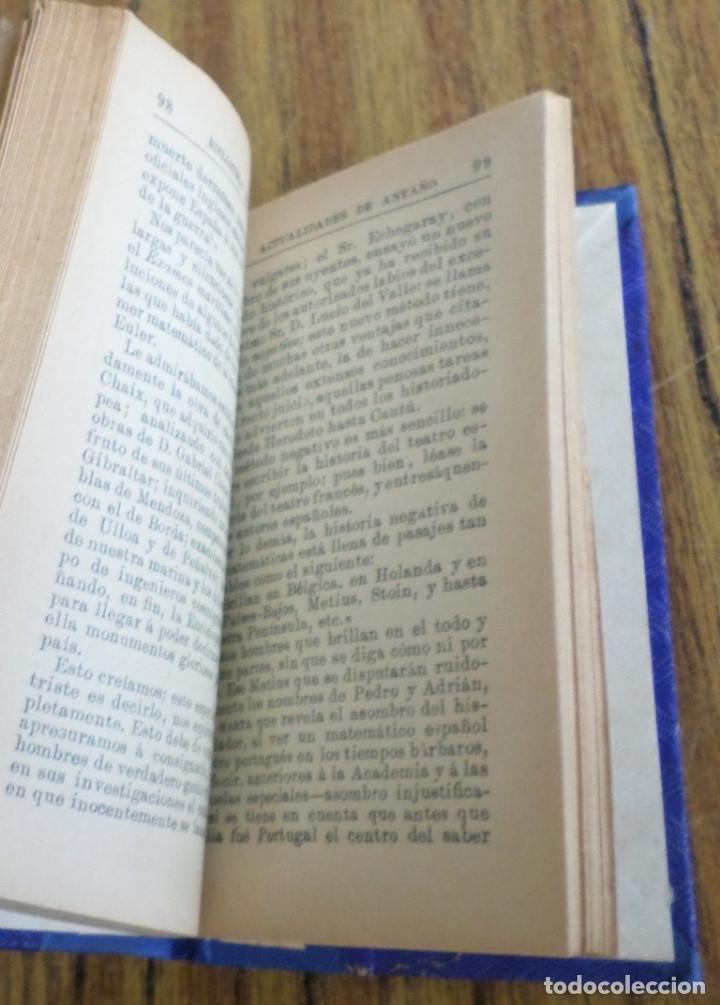 Libros antiguos: ACTUALIDADES DE ANTAÑO - Antonio Sánchez Pérez - Madrid 1895 - Foto 2 - 177076808