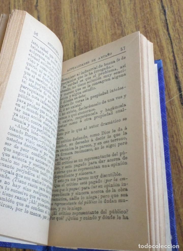 Libros antiguos: ACTUALIDADES DE ANTAÑO - Antonio Sánchez Pérez - Madrid 1895 - Foto 3 - 177076808