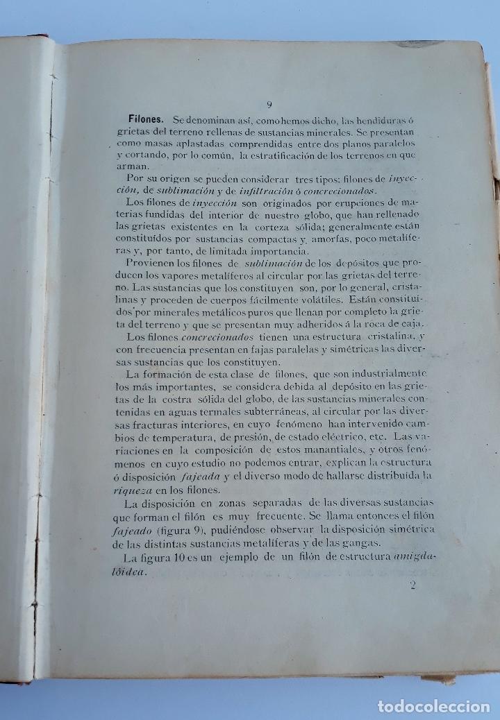 Libros antiguos: ELEMENTOS DE LABOREO DE MINAS. GINES MONCADA Y FERRO. 2º EDICION 1902. CONTIENE LAMINAS. W - Foto 2 - 177178523