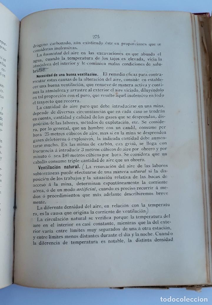 Libros antiguos: ELEMENTOS DE LABOREO DE MINAS. GINES MONCADA Y FERRO. 2º EDICION 1902. CONTIENE LAMINAS. W - Foto 3 - 177178523