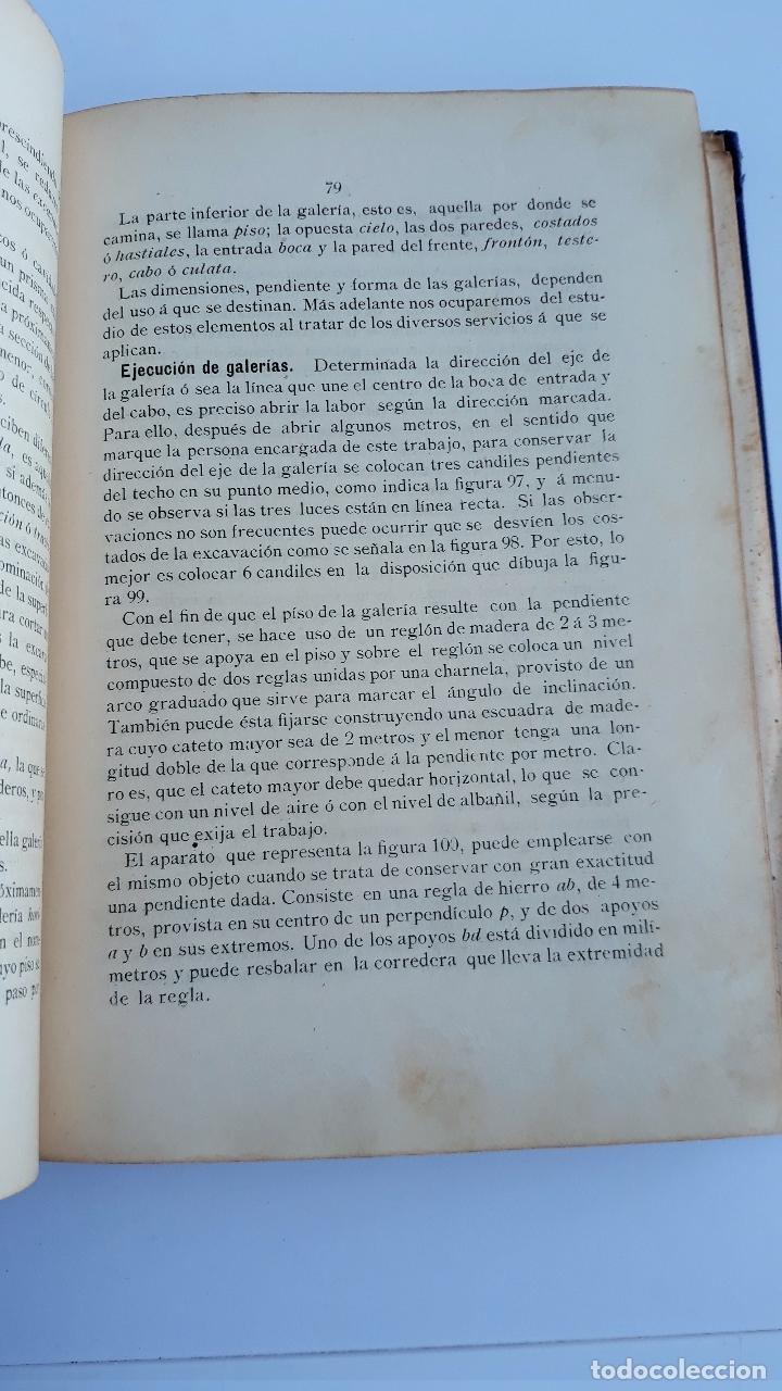 Libros antiguos: ELEMENTOS DE LABOREO DE MINAS. CONTIENE LAMINAS. W - Foto 2 - 177179178
