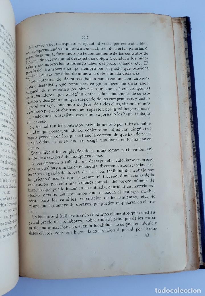 Libros antiguos: ELEMENTOS DE LABOREO DE MINAS. CONTIENE LAMINAS. W - Foto 3 - 177179178