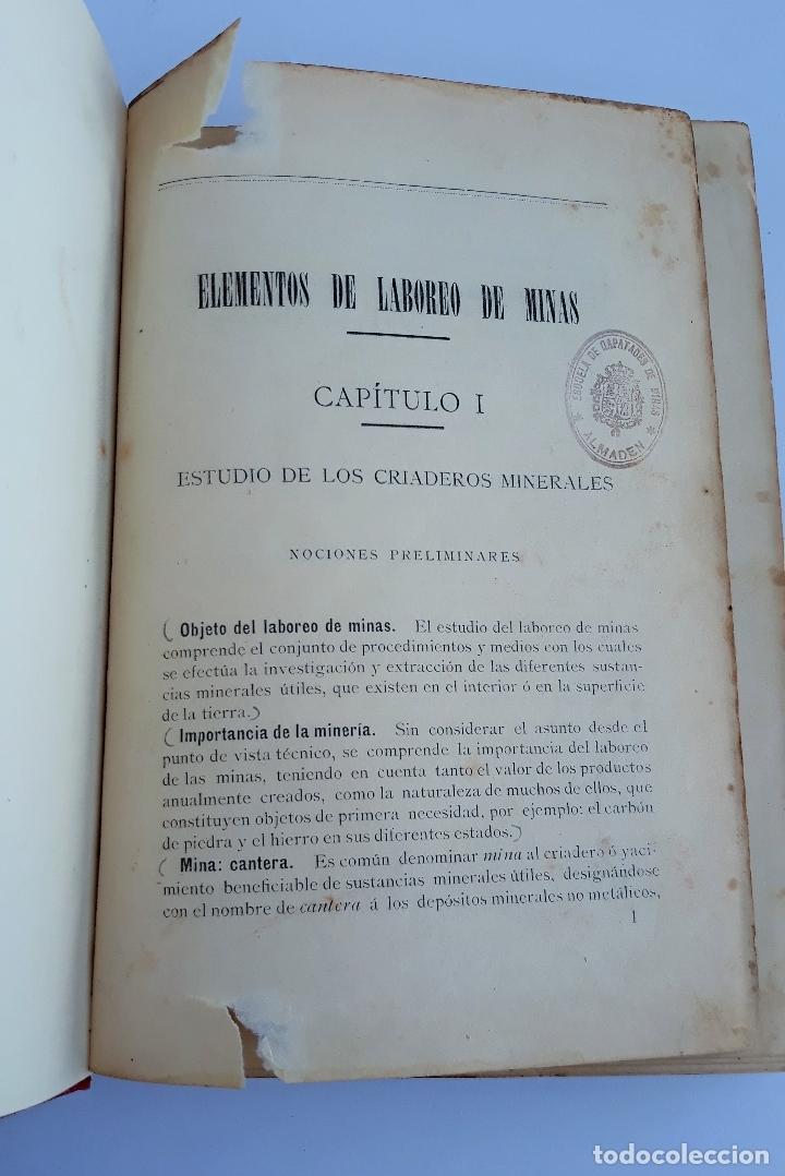 ELEMENTOS DE LABOREO DE MINAS. CONTIENE LAMINAS. W (Libros Antiguos, Raros y Curiosos - Ciencias, Manuales y Oficios - Otros)