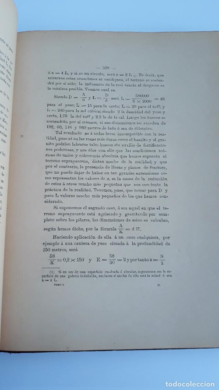 Libros antiguos: LABOREO DE MINAS, MANUEL MALO DE MOLINA. 2 TOMOS. TEXTO. 1889. W - Foto 4 - 177179440