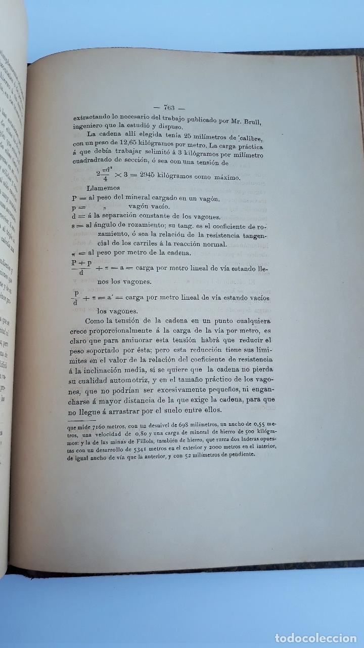 Libros antiguos: LABOREO DE MINAS, MANUEL MALO DE MOLINA. 2 TOMOS. TEXTO. 1889. W - Foto 5 - 177179440