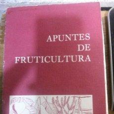 Libros antiguos: APUNTES DE FRUTICULTURA. Lote 177192257