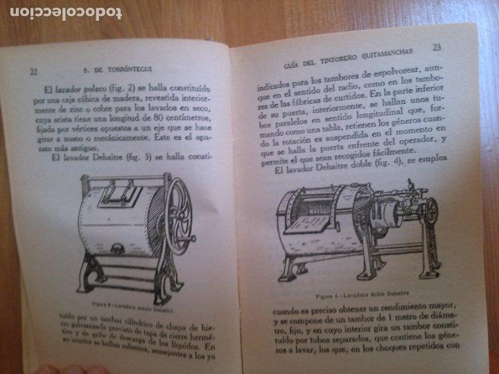 Libros antiguos: Guia del tintorero quitamanchas. S. de Torrontegui. - Foto 2 - 177194923