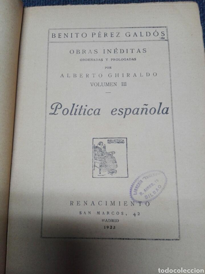 Libros antiguos: POLITICA ESPAÑOLA...1923 - Foto 2 - 177208065
