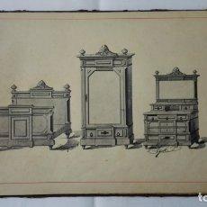 Libros antiguos: ANTIGUO LIBRO EBANISTERIA, CON 76 LAMINAS, MEDIDAS 35 X 21 CM. Lote 177398508