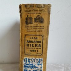 Libros antiguos: ANUARIO RIERA 1908 TOMO I ALAVA - LUGO. Lote 177593629