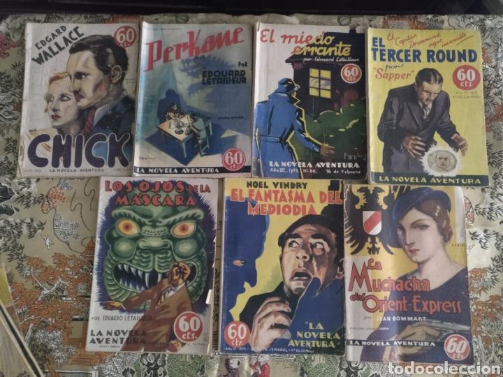 LOTE LA NOVELA AVENTURA. 1935 (Libros Antiguos, Raros y Curiosos - Literatura - Otros)