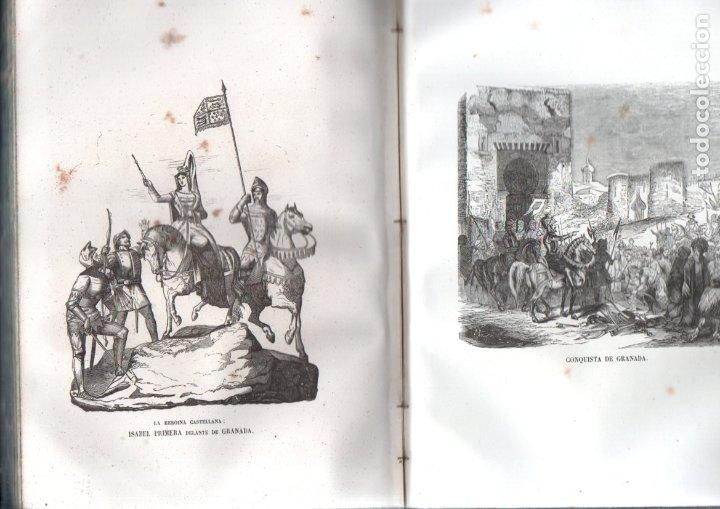 Libros antiguos: LOS HÉROES Y LAS GRANDEZAS DE LA TIERRA (1854) - 9 TOMOS - OBRA COMPLETA - NUMEROSOS GRABADOS - Foto 2 - 177649373