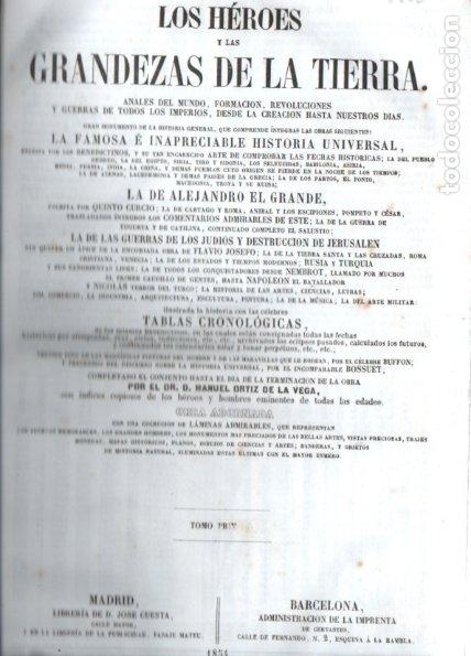 Libros antiguos: LOS HÉROES Y LAS GRANDEZAS DE LA TIERRA (1854) - 9 TOMOS - OBRA COMPLETA - NUMEROSOS GRABADOS - Foto 6 - 177649373