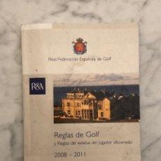 Libros antiguos: REGLAS DE GOLF(13€). Lote 177680715